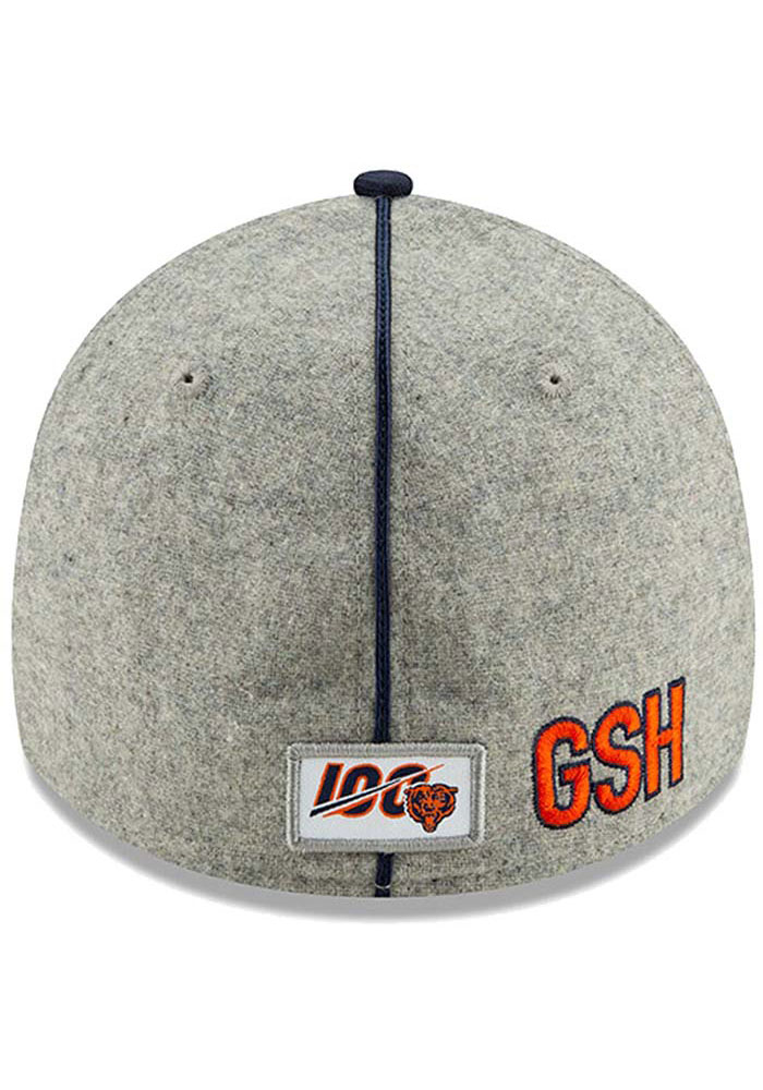New Era Chicago Bears Grey JR 2019 Official Sideline Home 39THIRTY Youth Flex Hat - Image 4