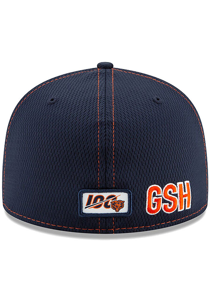 New Era Chicago Bears Mens Navy Blue 2019 Official Sideline Road 59FIFTY Fitted Hat - Image 4