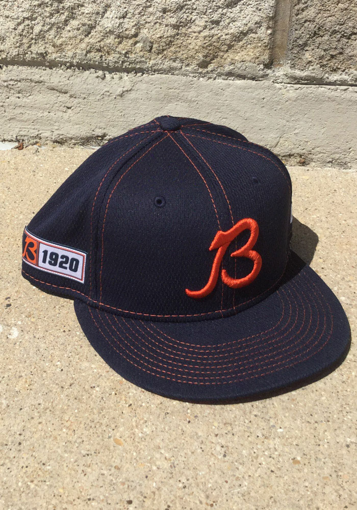 New Era Chicago Bears Mens Navy Blue 2019 Official Sideline Road 59FIFTY Fitted Hat - Image 5
