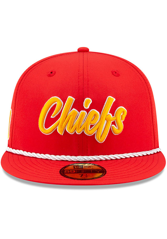 New Era Kansas City Chiefs Mens Red 2019 Official Sideline Home 59FIFTY Fitted Hat - Image 3