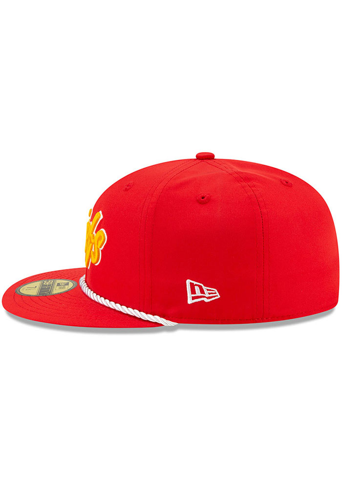 New Era Kansas City Chiefs Mens Red 2019 Official Sideline Home 59FIFTY Fitted Hat - Image 4