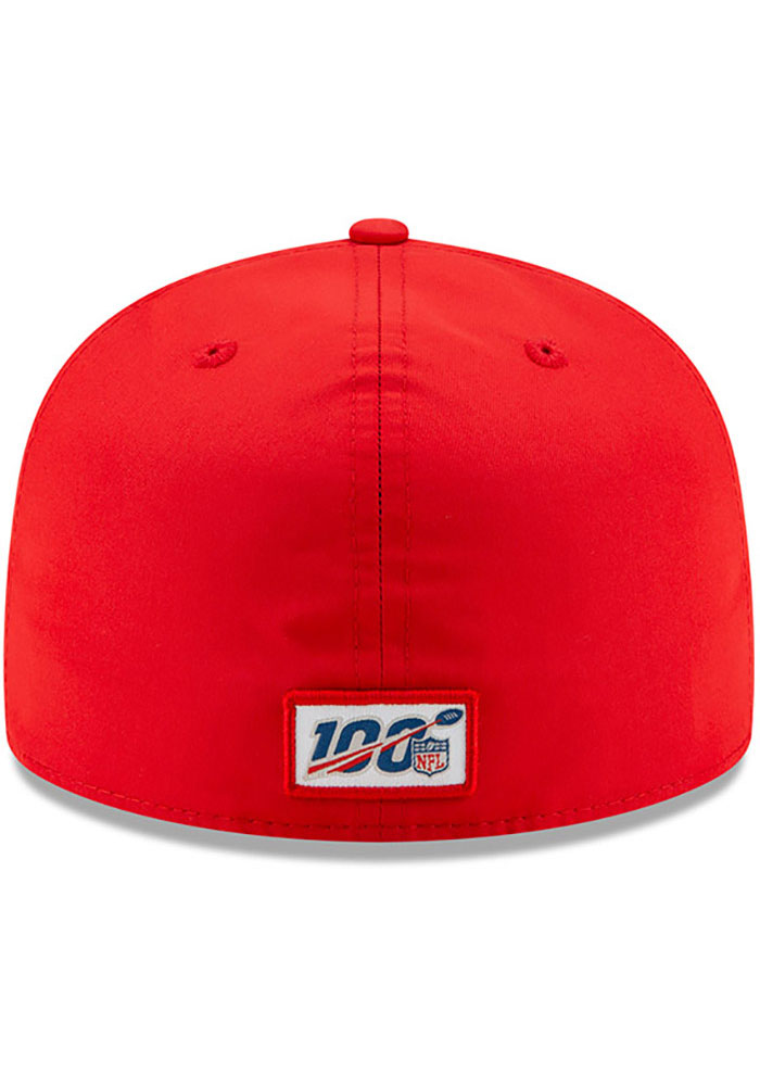 New Era Kansas City Chiefs Mens Red 2019 Official Sideline Home 59FIFTY Fitted Hat - Image 5