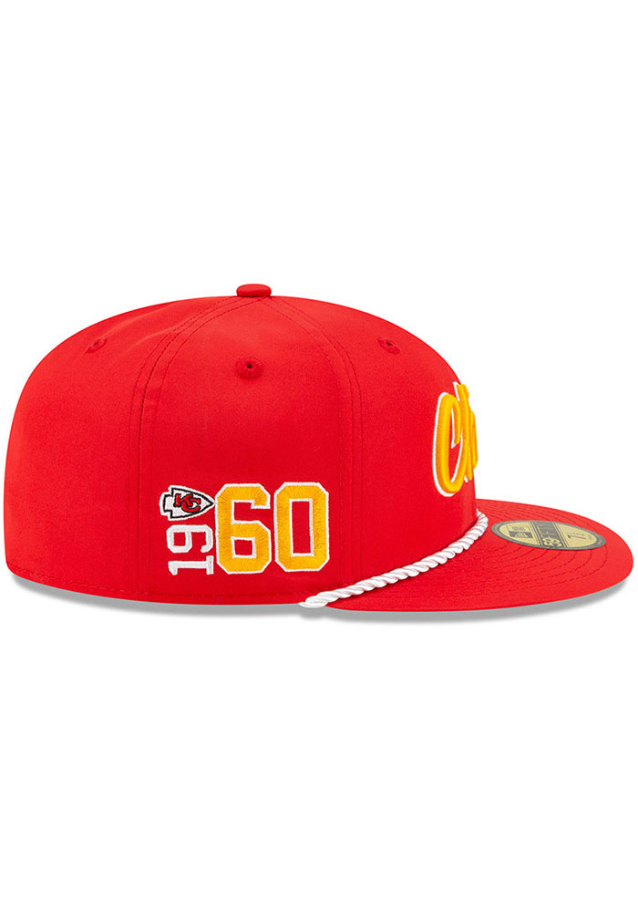 New Era Kansas City Chiefs Mens Red 2019 Official Sideline Home 59FIFTY Fitted Hat - Image 6