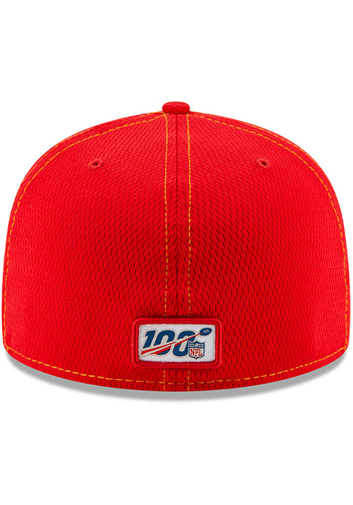 New Era Kansas City Chiefs Mens Red 2019 Official Sideline Road 59FIFTY Fitted Hat - Image 5