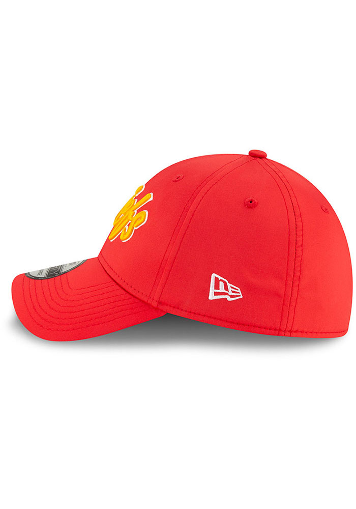 New Era Kansas City Chiefs Mens Red 2019 Official Sideline Home 39THIRTY Flex Hat - Image 4
