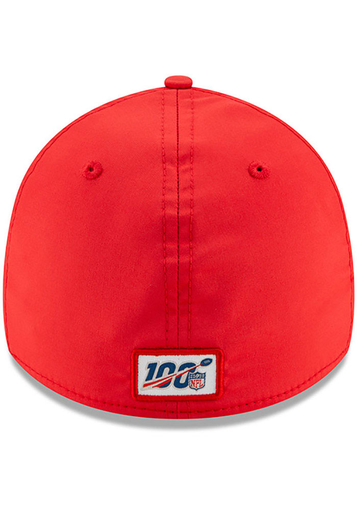 New Era Kansas City Chiefs Mens Red 2019 Official Sideline Home 39THIRTY Flex Hat - Image 5