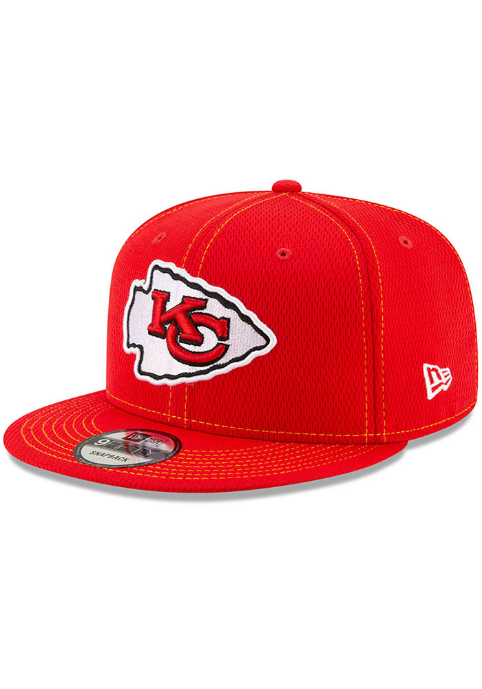 New Era Kansas City Chiefs Red 2019 Official Sideline Road 9FIFTY Mens Snapback Hat - Image 1