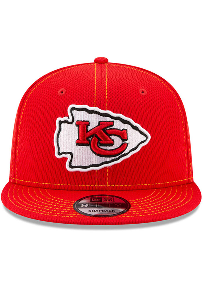 New Era Kansas City Chiefs Red 2019 Official Sideline Road 9FIFTY Mens Snapback Hat - Image 3
