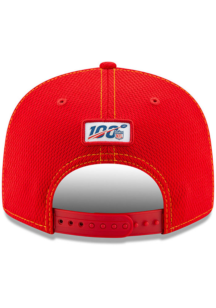 New Era Kansas City Chiefs Red 2019 Official Sideline Road 9FIFTY Mens Snapback Hat - Image 5