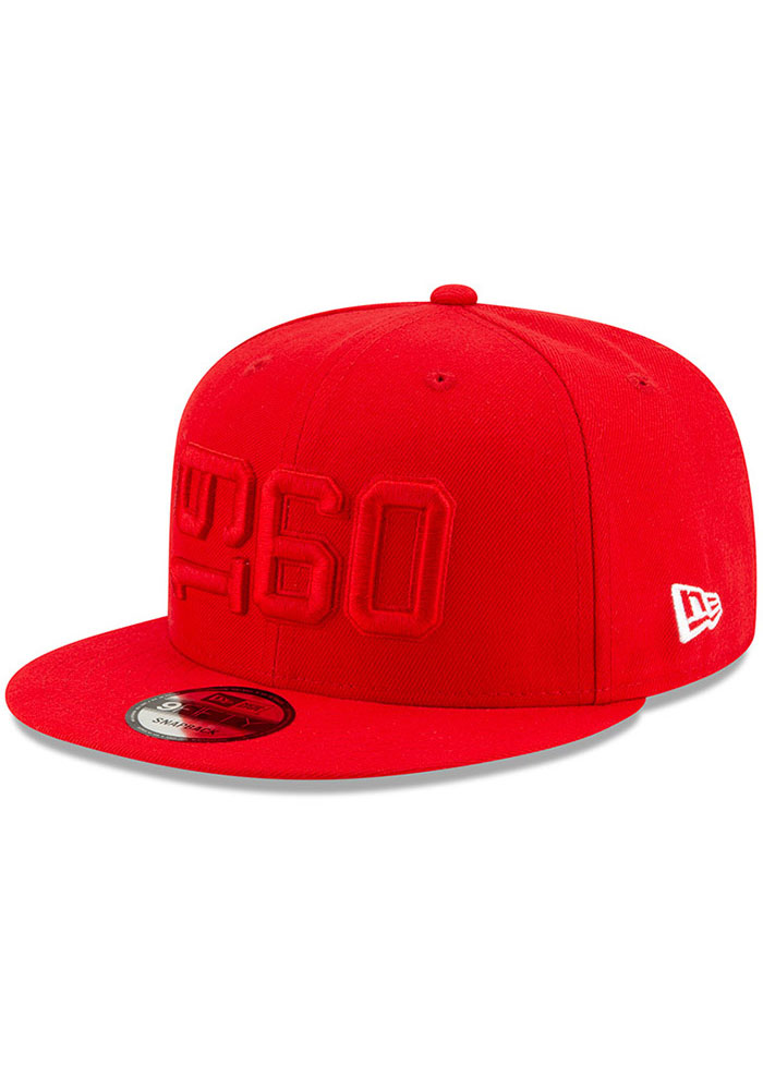 New Era Kansas City Chiefs Red 2019 Official Sideline ALT 9FIFTY Mens Snapback Hat - Image 1