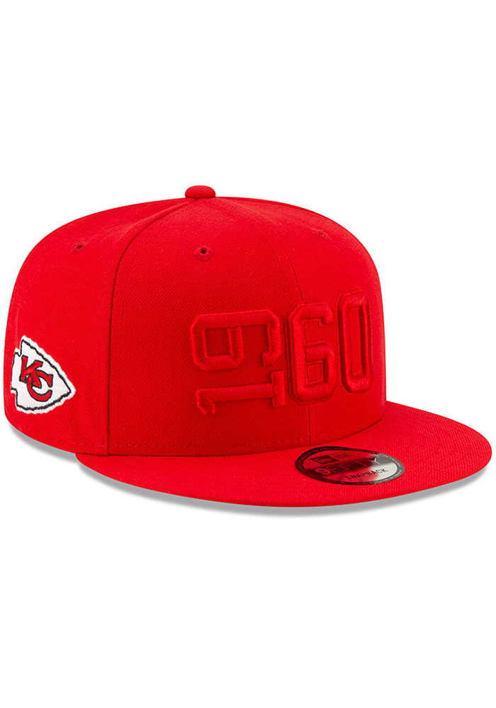 New Era Kansas City Chiefs Red 2019 Official Sideline ALT 9FIFTY Mens Snapback Hat - Image 2