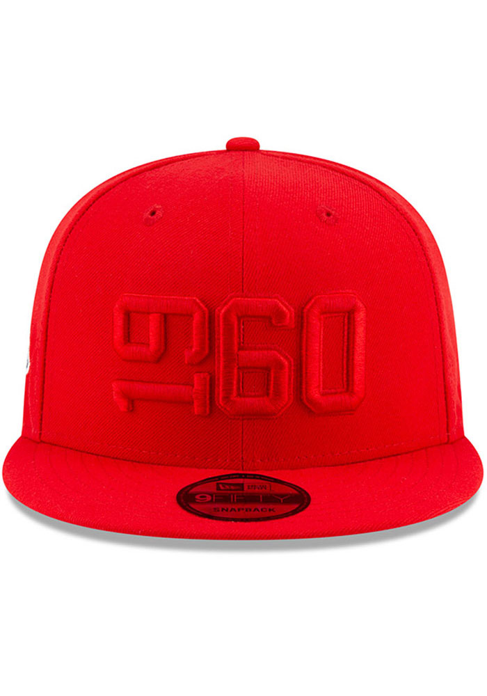 New Era Kansas City Chiefs Red 2019 Official Sideline ALT 9FIFTY Mens Snapback Hat - Image 3