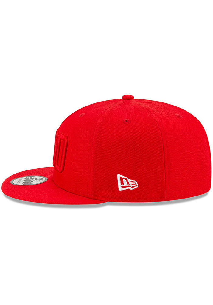 New Era Kansas City Chiefs Red 2019 Official Sideline ALT 9FIFTY Mens Snapback Hat - Image 4