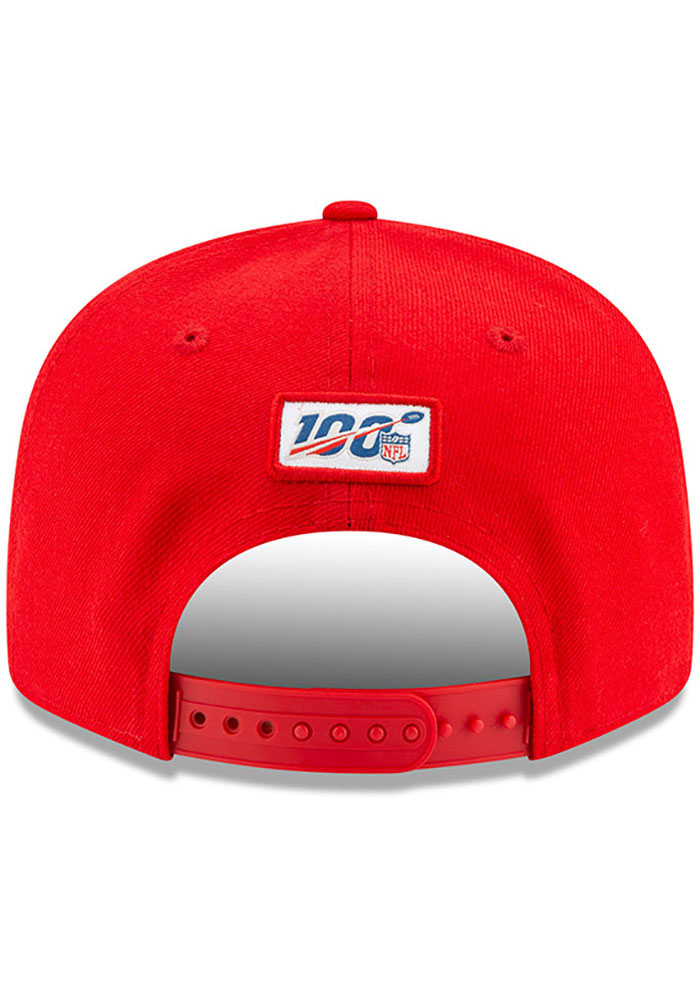 New Era Kansas City Chiefs Red 2019 Official Sideline ALT 9FIFTY Mens Snapback Hat - Image 5
