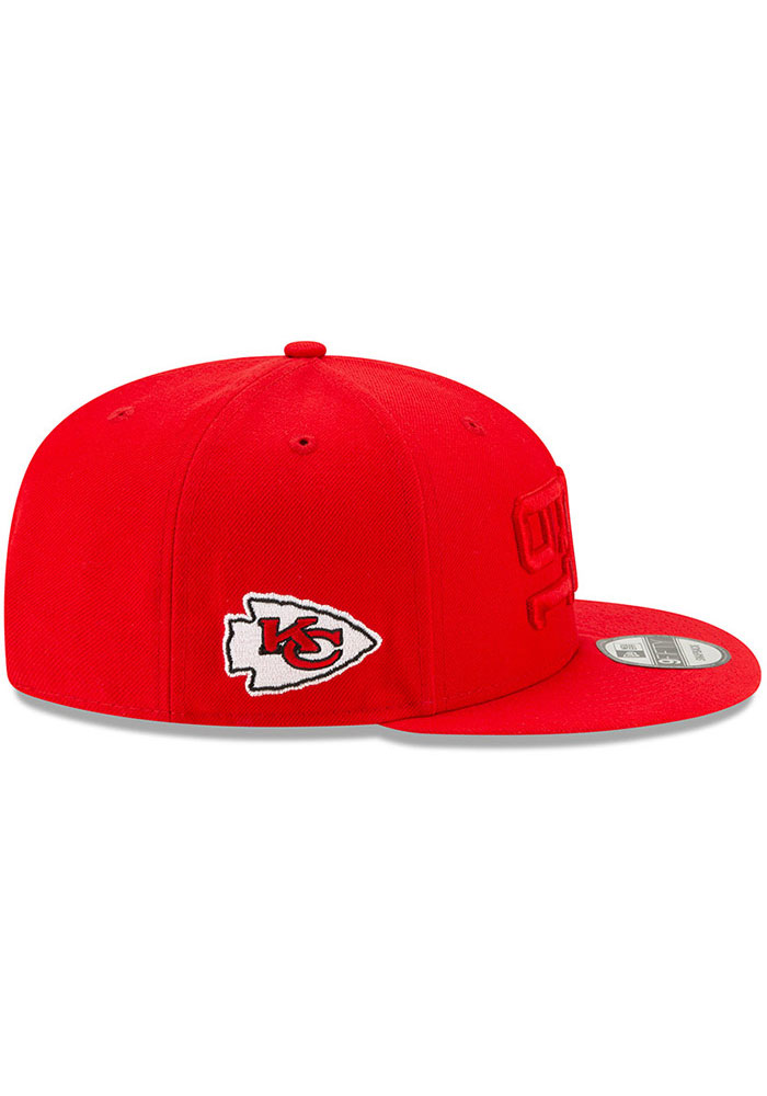 New Era Kansas City Chiefs Red 2019 Official Sideline ALT 9FIFTY Mens Snapback Hat - Image 6
