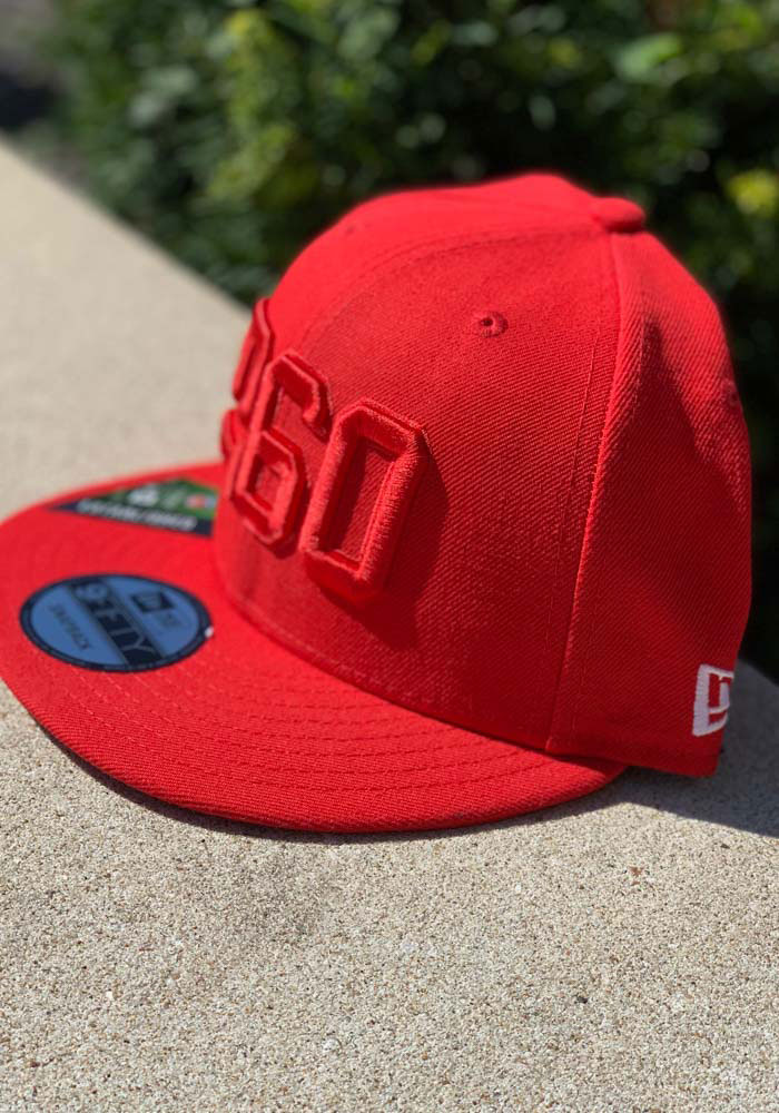 New Era Kansas City Chiefs Red 2019 Official Sideline ALT 9FIFTY Mens Snapback Hat - Image 9