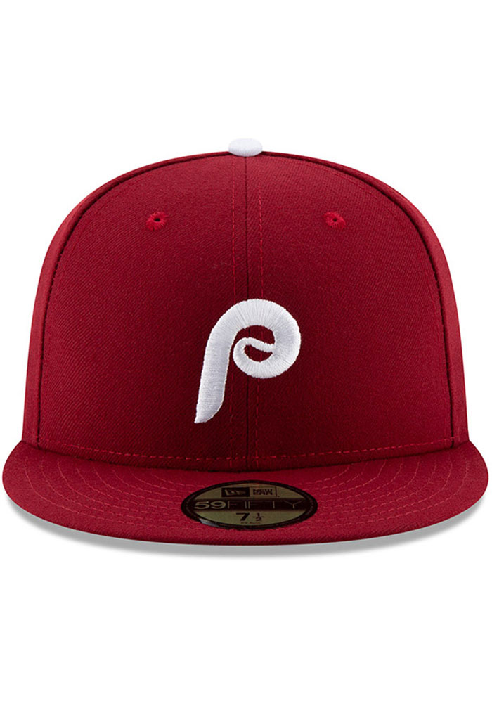 New Era Philadelphia Phillies Mens Maroon MLB AC 59FIFTY Fitted Hat - Image 3