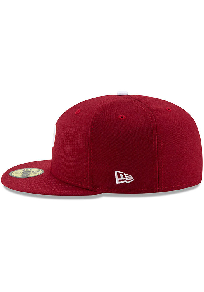 New Era Philadelphia Phillies Mens Maroon MLB AC 59FIFTY Fitted Hat - Image 4