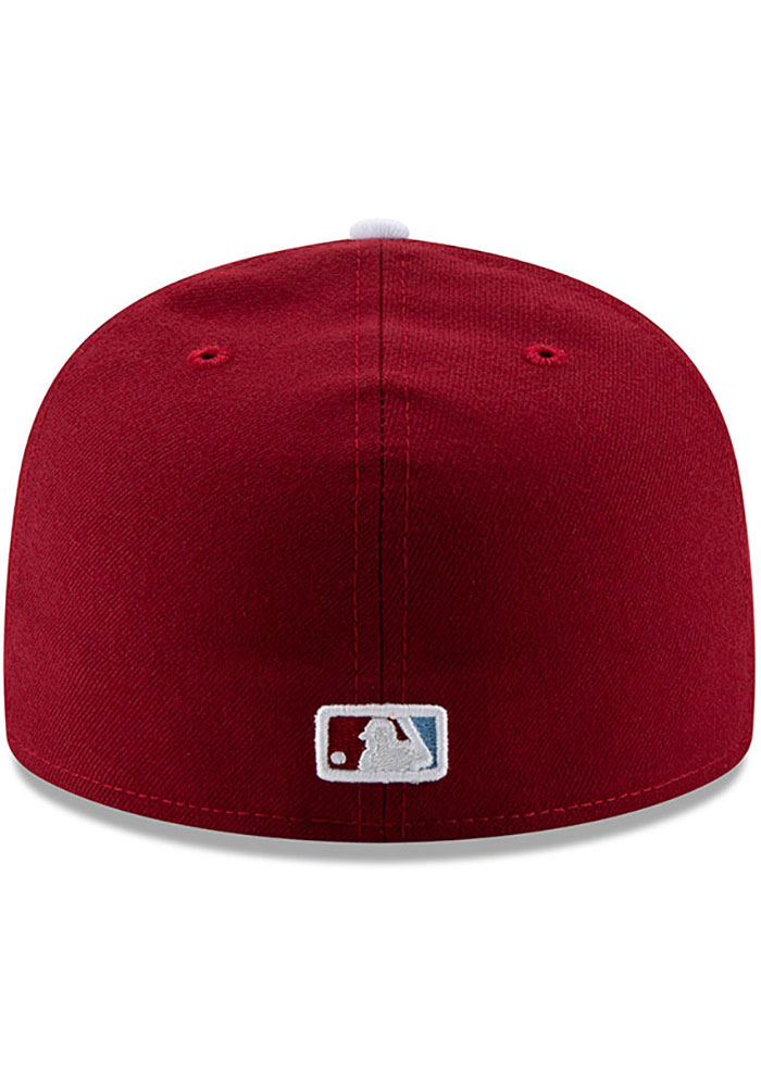 New Era Philadelphia Phillies Mens Maroon MLB AC 59FIFTY Fitted Hat - Image 5
