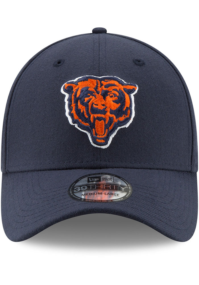 New Era Chicago Bears Mens Navy Blue Team Classic 39THIRTY Flex Hat - Image 3