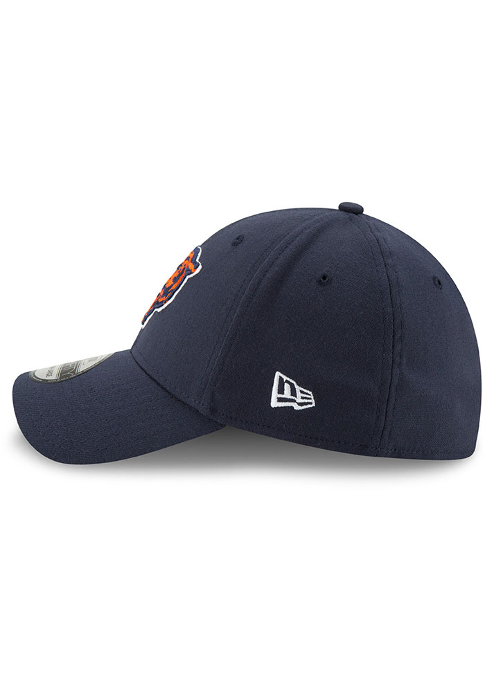 New Era Chicago Bears Mens Navy Blue Team Classic 39THIRTY Flex Hat - Image 4