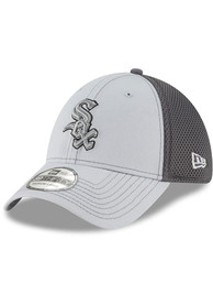 Chicago White Sox New Era Grayed Out Neo 39THIRTY Flex Hat - Grey