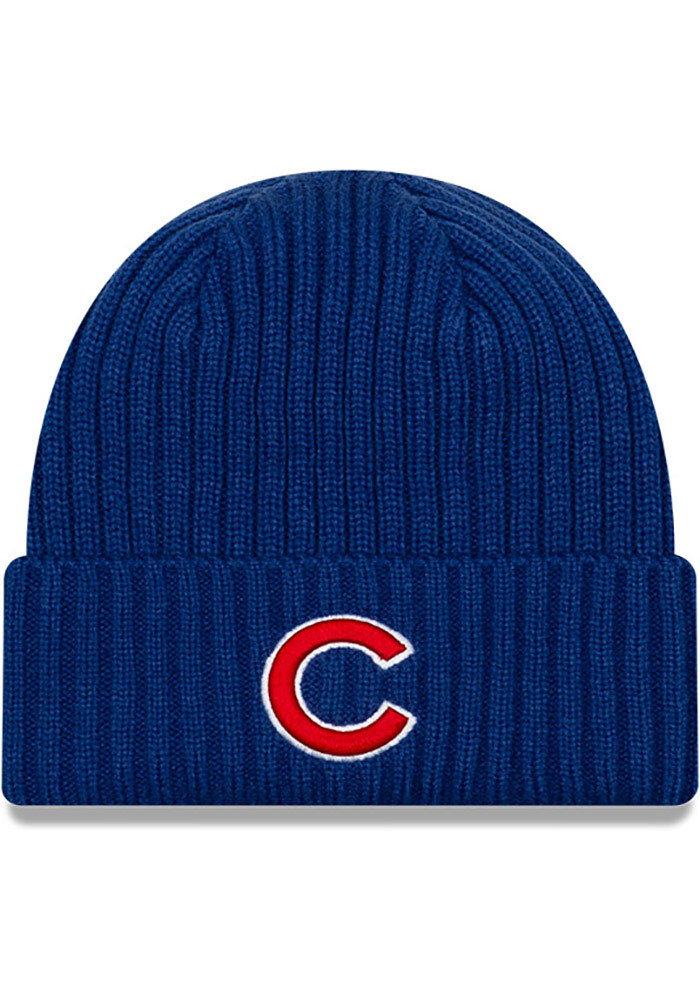 Chicago Cubs New Era Core Classic Cuff Knit - Blue