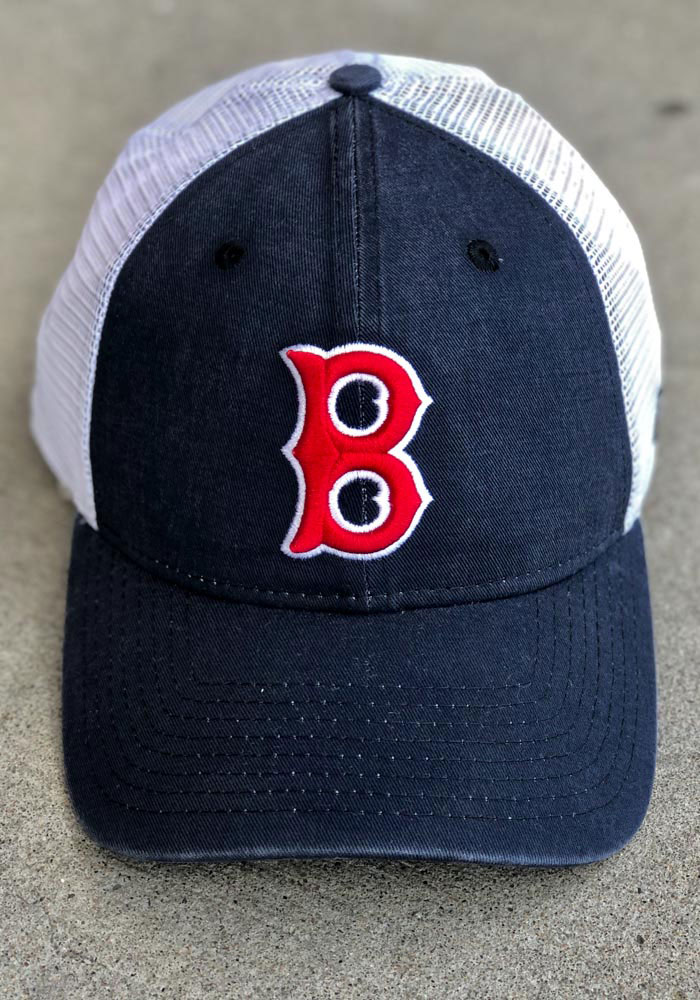New Era Boston Red Sox Cooperstown Trucker 9FORTY Adjustable Hat - Navy Blue - Image 7