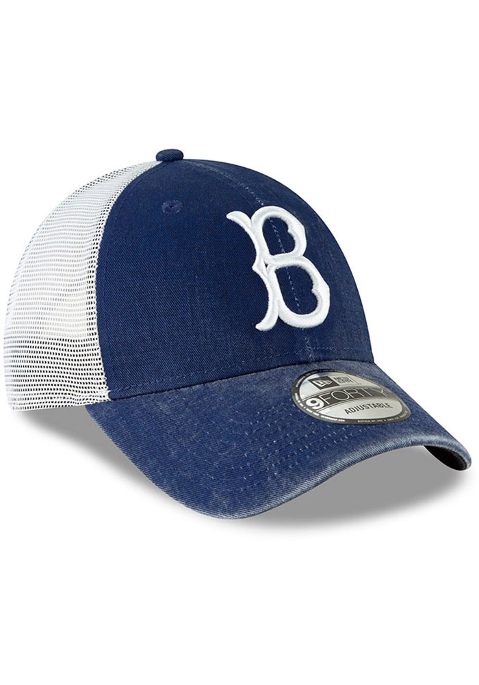 New Era Brooklyn Cooperstown Trucker 9FORTY Adjustable Hat - Blue - Image 2