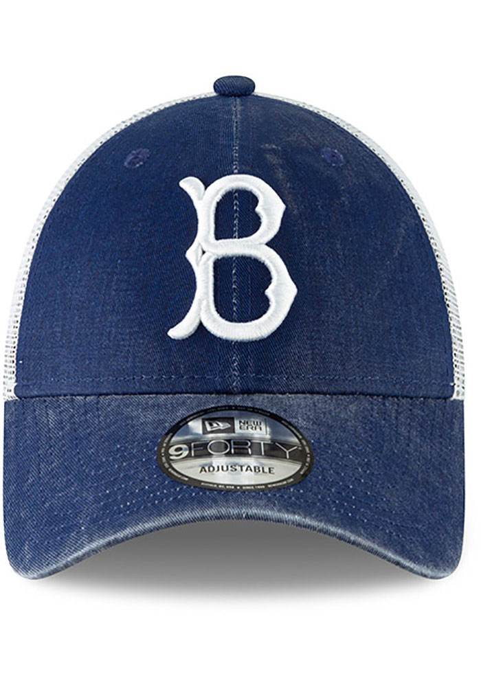 New Era Brooklyn Cooperstown Trucker 9FORTY Adjustable Hat - Blue - Image 3