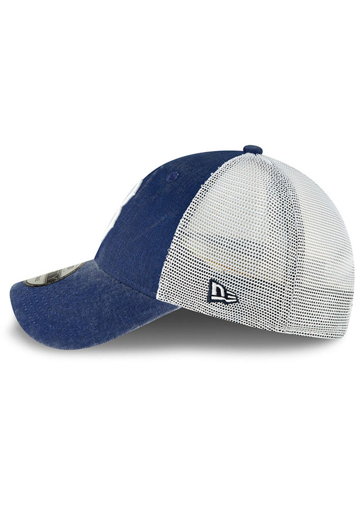 New Era Brooklyn Cooperstown Trucker 9FORTY Adjustable Hat - Blue - Image 4