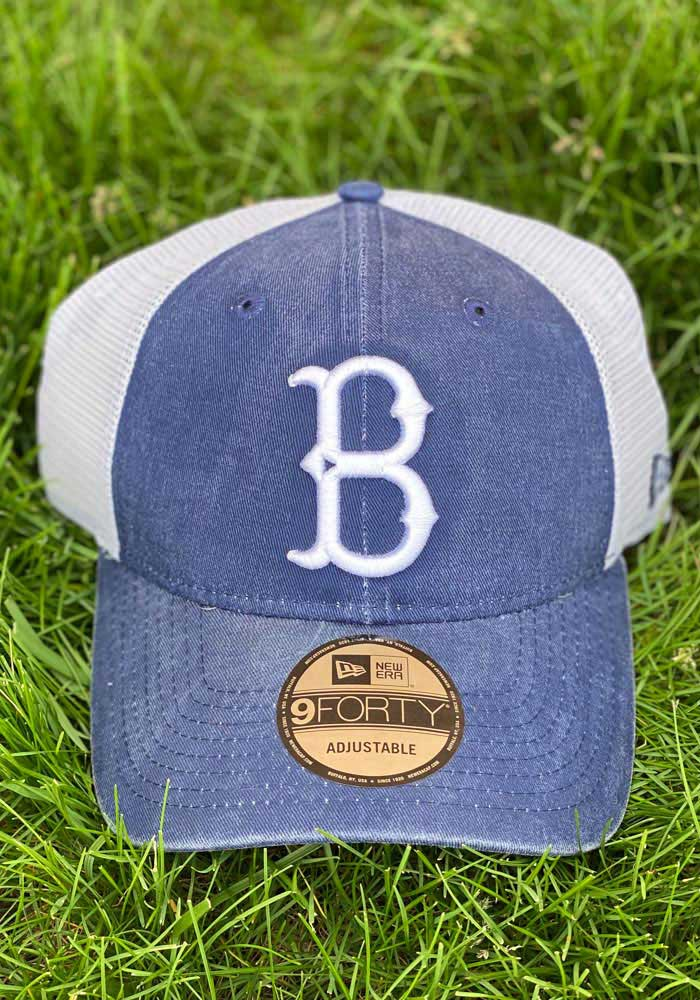 New Era Brooklyn Cooperstown Trucker 9FORTY Adjustable Hat - Blue - Image 7