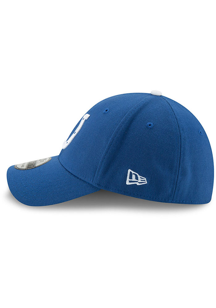 New Era Indianapolis Colts Mens Blue Team Classic 39THIRTY Flex Hat - Image 4