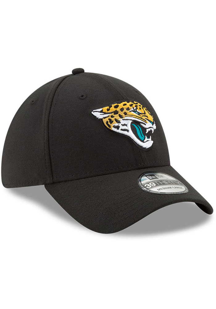 New Era Jacksonville Jaguars Mens Black Team Classic 39THIRTY Flex Hat - Image 2