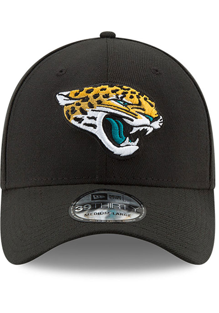New Era Jacksonville Jaguars Mens Black Team Classic 39THIRTY Flex Hat - Image 3