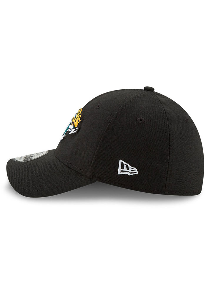 New Era Jacksonville Jaguars Mens Black Team Classic 39THIRTY Flex Hat - Image 4