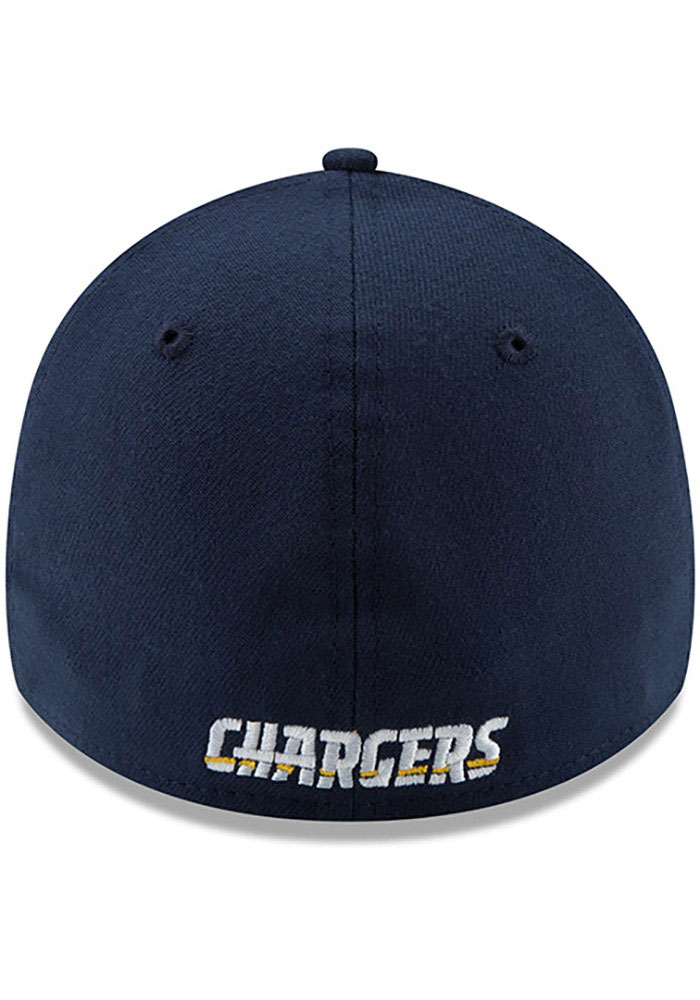 New Era Los Angeles Chargers Mens Navy Blue Team Classic 39THIRTY Flex Hat - Image 5