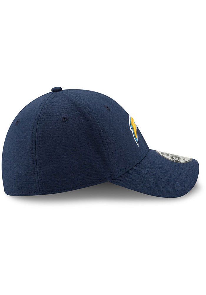 New Era Los Angeles Chargers Mens Navy Blue Team Classic 39THIRTY Flex Hat - Image 6