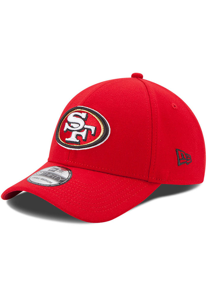 New Era San Francisco 49ers Mens Red Team Classic 39THIRTY Flex Hat - Image 1