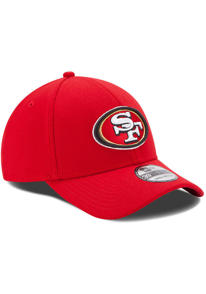 New Era San Francisco 49ers Mens Red Team Classic 39THIRTY Flex Hat - Image 2