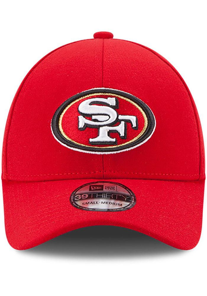 New Era San Francisco 49ers Mens Red Team Classic 39THIRTY Flex Hat - Image 3