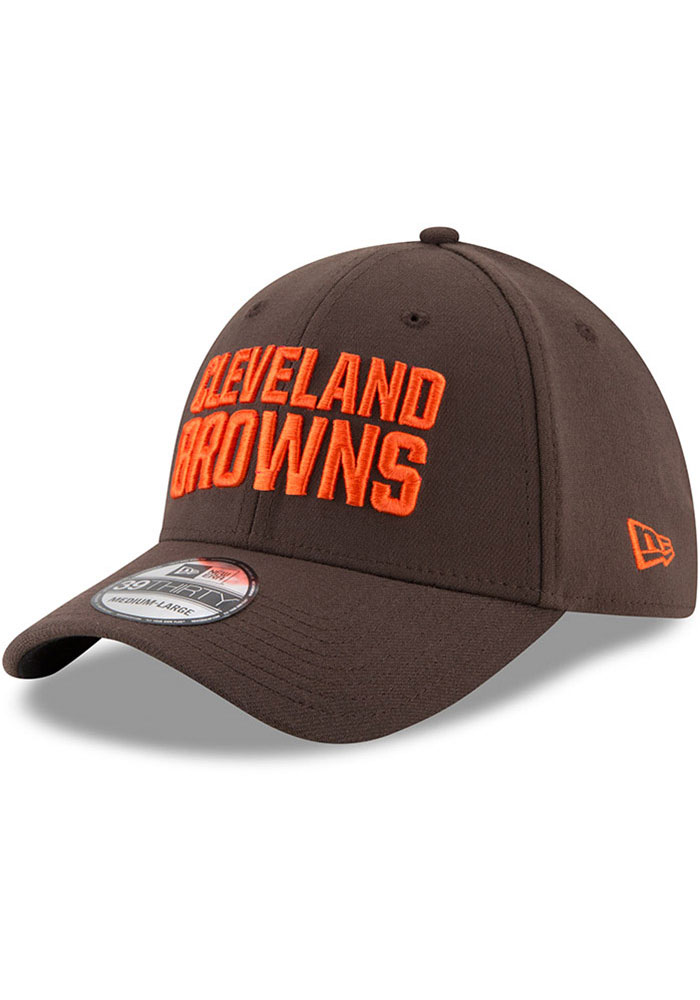New Era Cleveland Browns Brown JR Team Classic 39THIRTY Youth Flex Hat - Image 1