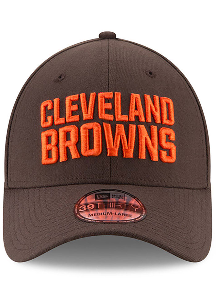 New Era Cleveland Browns Brown JR Team Classic 39THIRTY Youth Flex Hat - Image 3