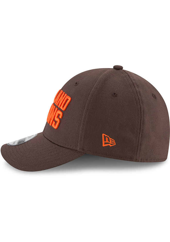 New Era Cleveland Browns Brown JR Team Classic 39THIRTY Youth Flex Hat - Image 4
