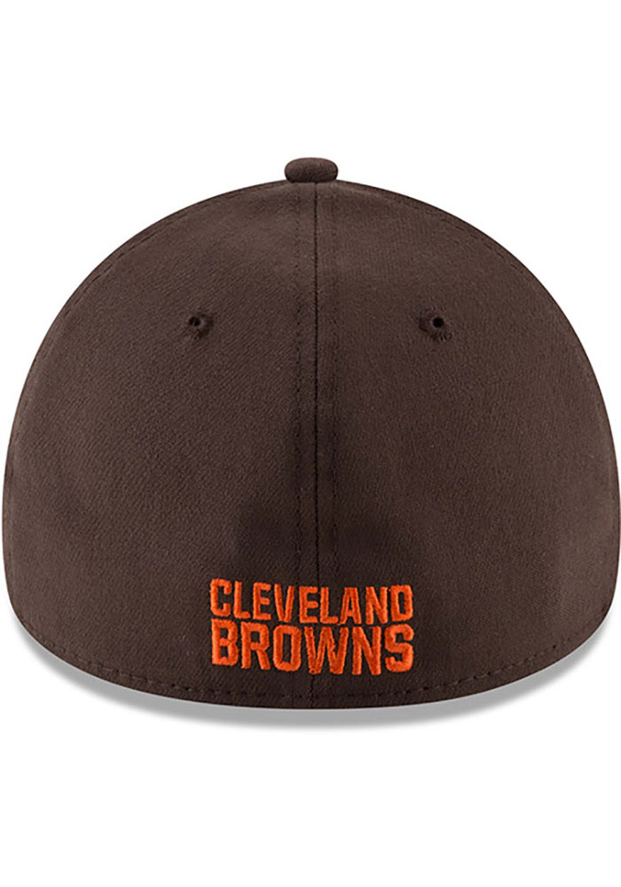 New Era Cleveland Browns Brown JR Team Classic 39THIRTY Youth Flex Hat - Image 5