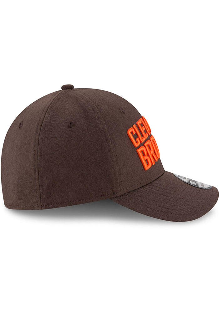 New Era Cleveland Browns Brown JR Team Classic 39THIRTY Youth Flex Hat - Image 6