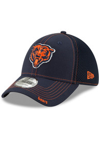 Chicago Bears New Era Team Neo 39THIRTY Flex Hat - Navy Blue