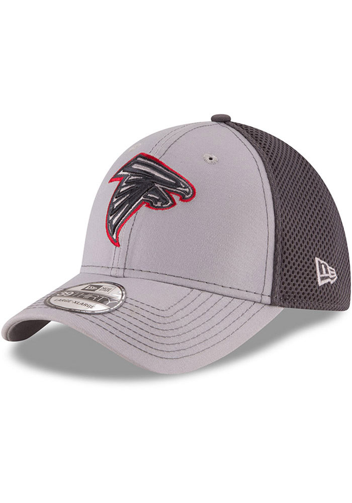 Atlanta Falcons New Era Grayed Out Neo 39THIRTY Flex Hat - Grey