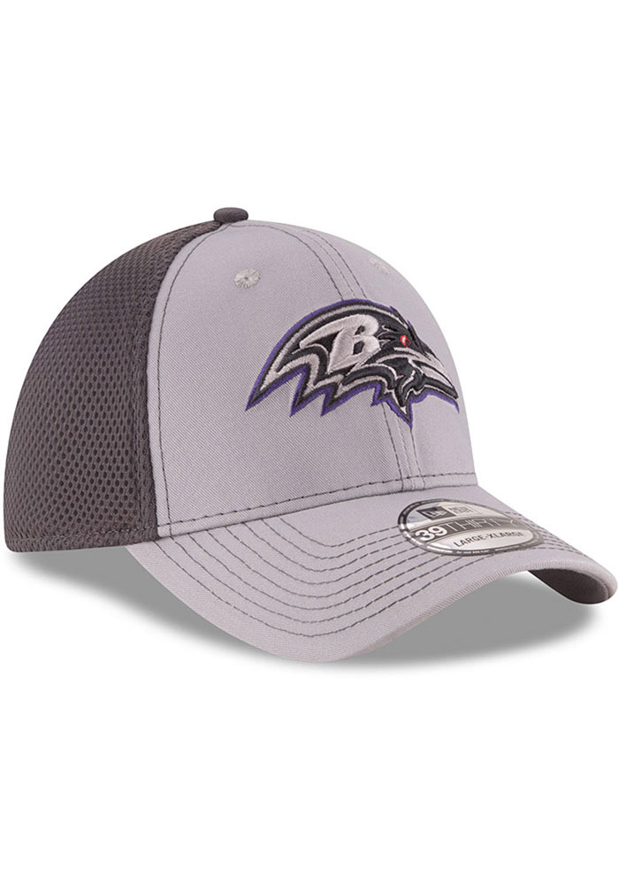 New Era Baltimore Ravens Mens Grey Grayed Out Neo 39THIRTY Flex Hat - Image 2