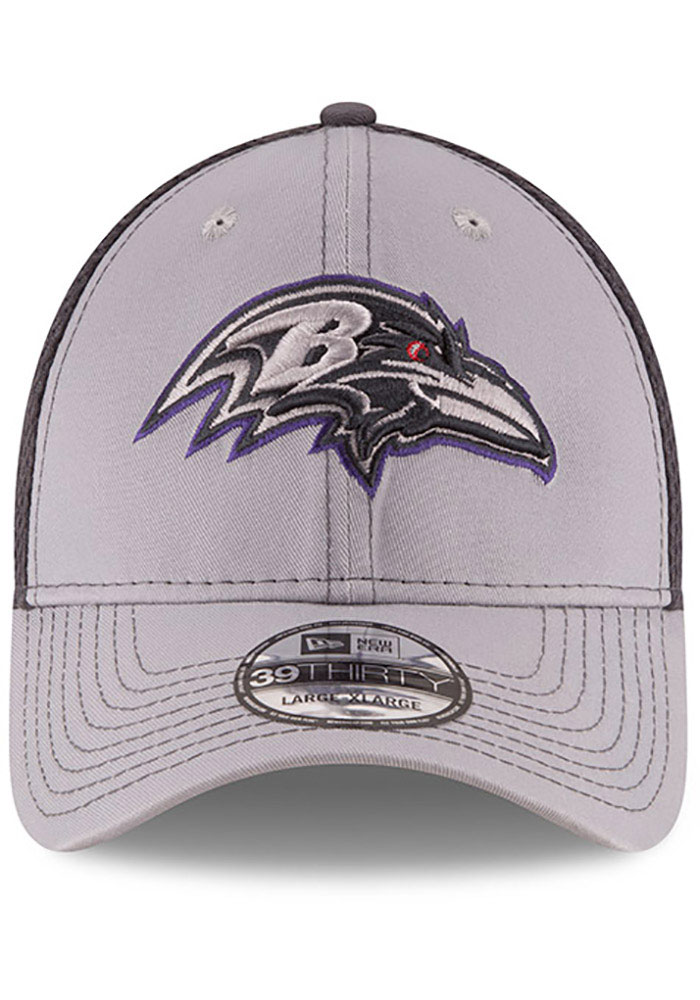 New Era Baltimore Ravens Mens Grey Grayed Out Neo 39THIRTY Flex Hat - Image 3